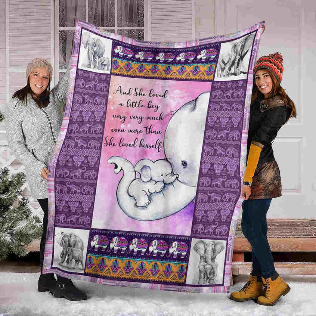 Cute Native Elephants Blanket - Elephant She Loved Herself Blanket