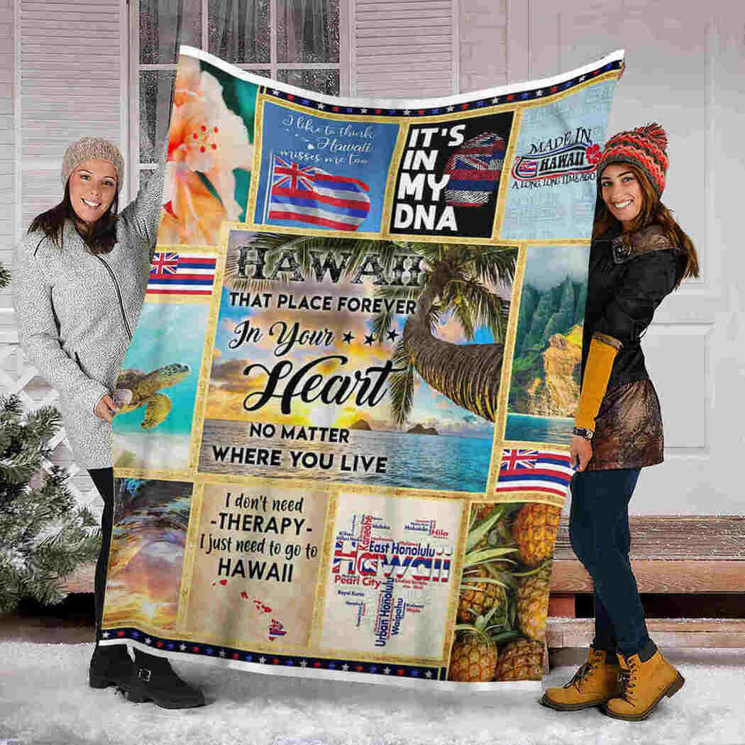 Hawaii Blanket - That Place Forever In Your Heart Blanket
