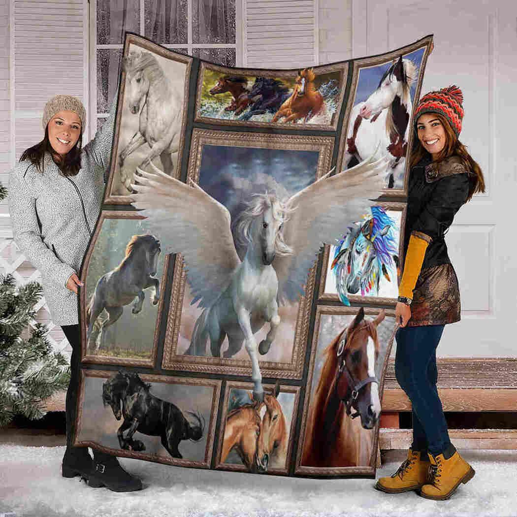 Horse Wing Blanket - I Love Horse Blanket