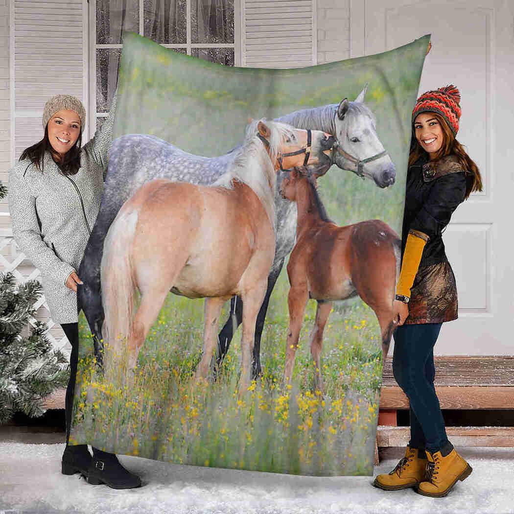 Horse In Natural Blanket - Animals Natural Blanket