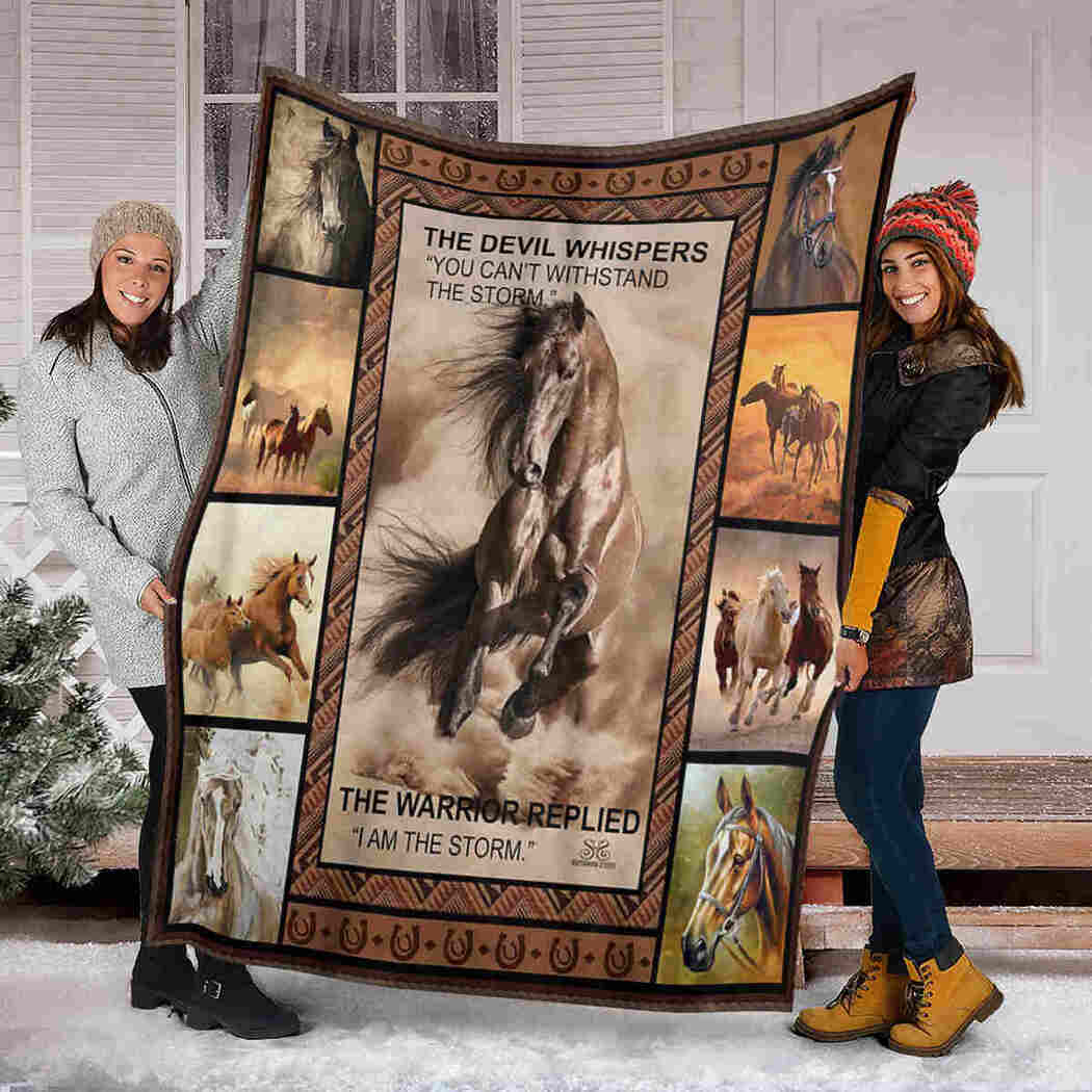 Horse Animals Blanket - I Am The Storm Blanket
