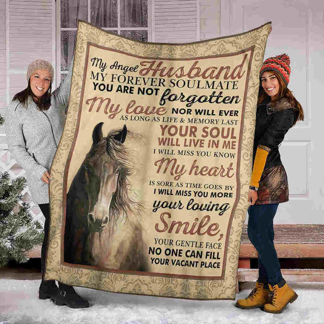 My Angel Husband Blanket - Horse - My Forever Soulmate Blanket