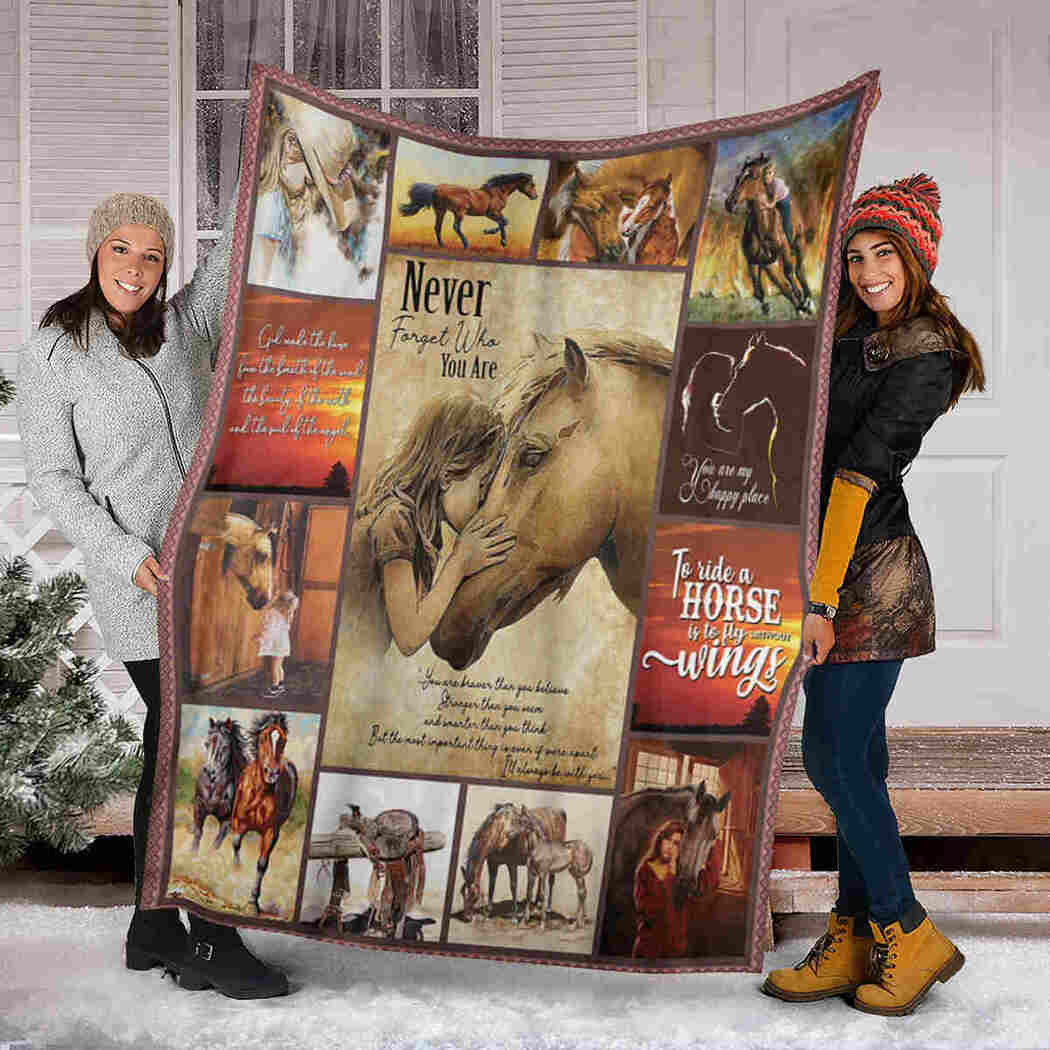 Horse And Girl Blanket - Never Forget Who Are You Blanket