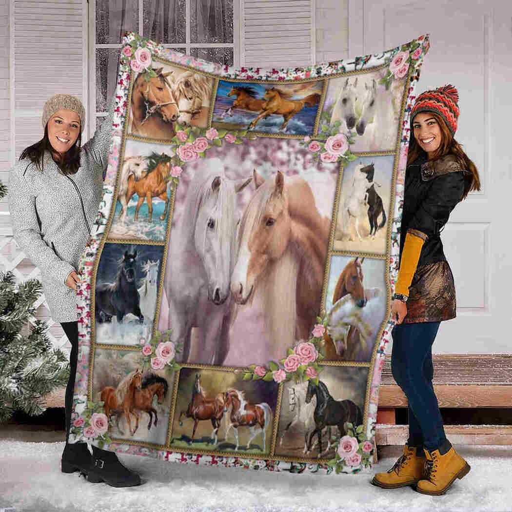 Horse Blanket - Valentine Couple Blanket