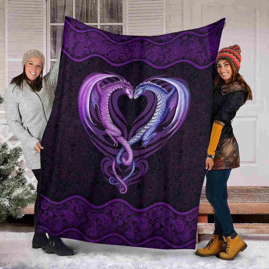 Couple Dragon Mandala Blanket - Animals Lover Blanket