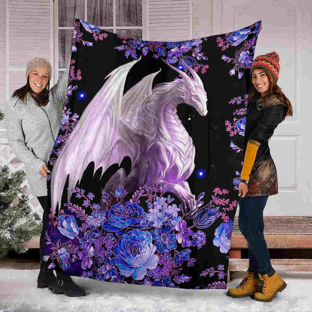 Dragon Blanket - Flower Galaxy Blanket