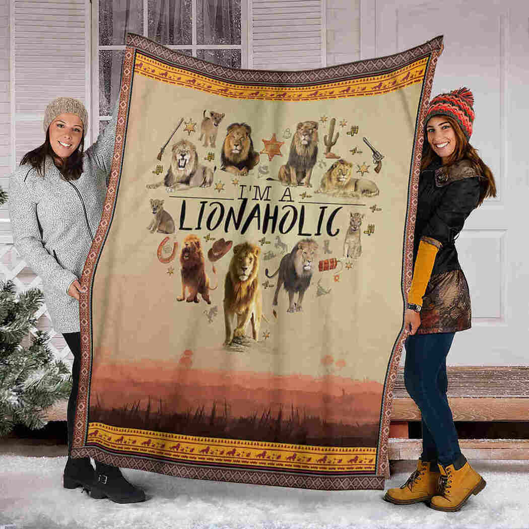 Lion Heart Blanket - I Am A Lionaholic Blanket