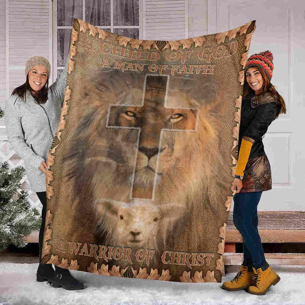 Lion God Blanket - A Warrior Of Christ Blanket