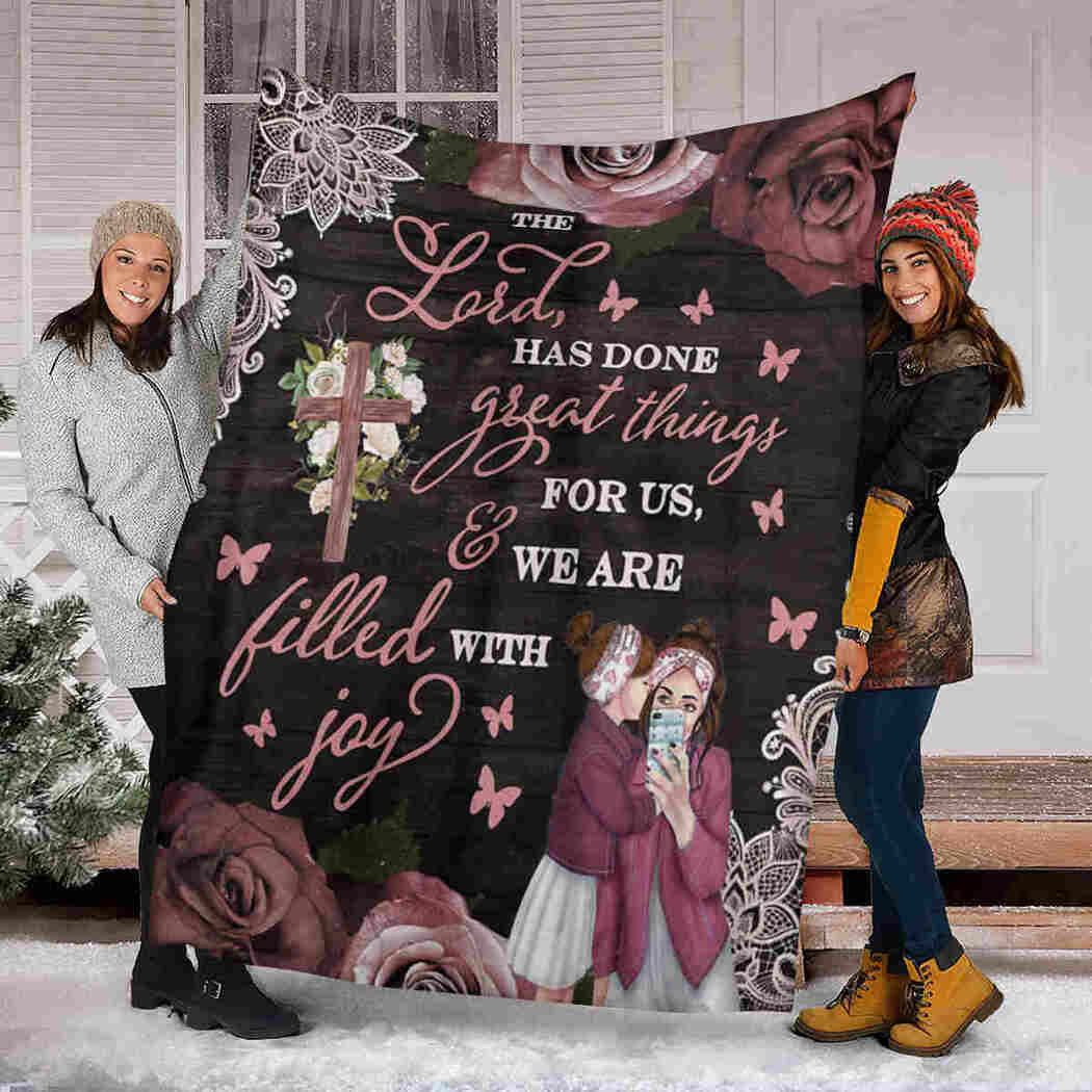 Jesus Daughter & Mom Blanket - We Are Filled With Joy Blanket