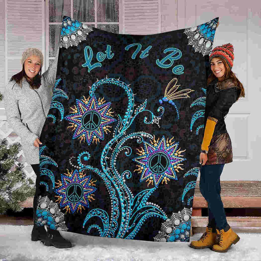 Hippie Flower Mandala Blanket - Let It Be Blanket