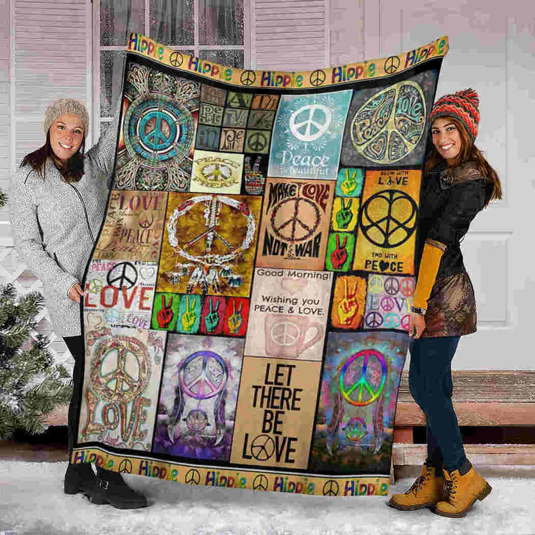 Hippie Peace Blanket - Let There Be Love Blanket