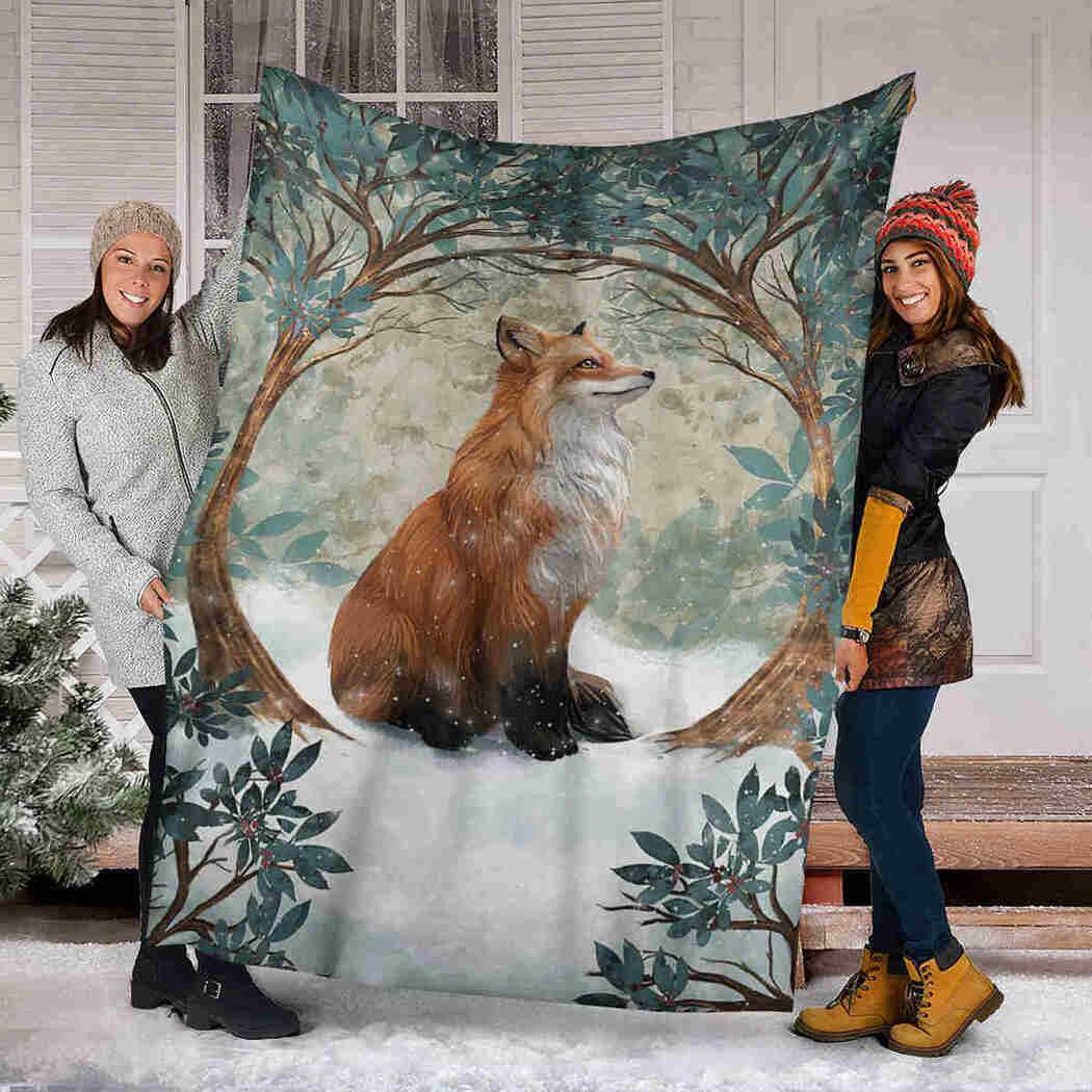 Fox Forest Blanket - Wild Animals Blanket