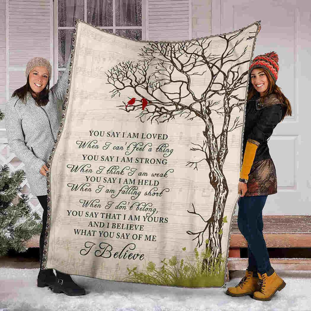 I Believe Blanket - Tree Cardinal Song Blanket