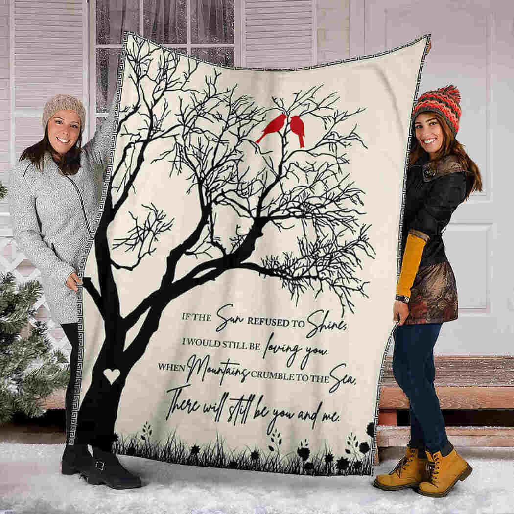 Tree Love Blanket - There Will Still Be You And Me Blanket