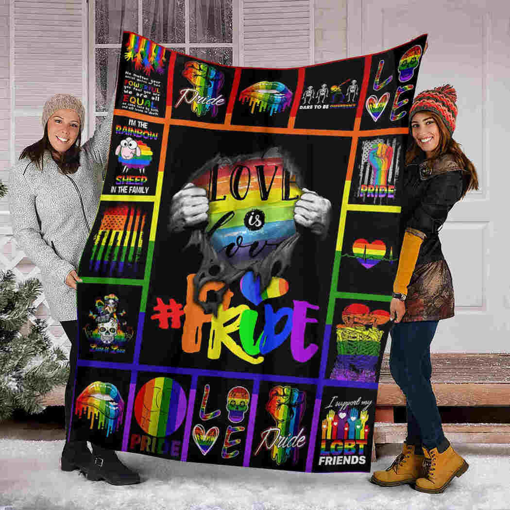 Colorful Love And Pride Blanket - I'm The Rainbow - Sheep In The Family - Halloween Blanket