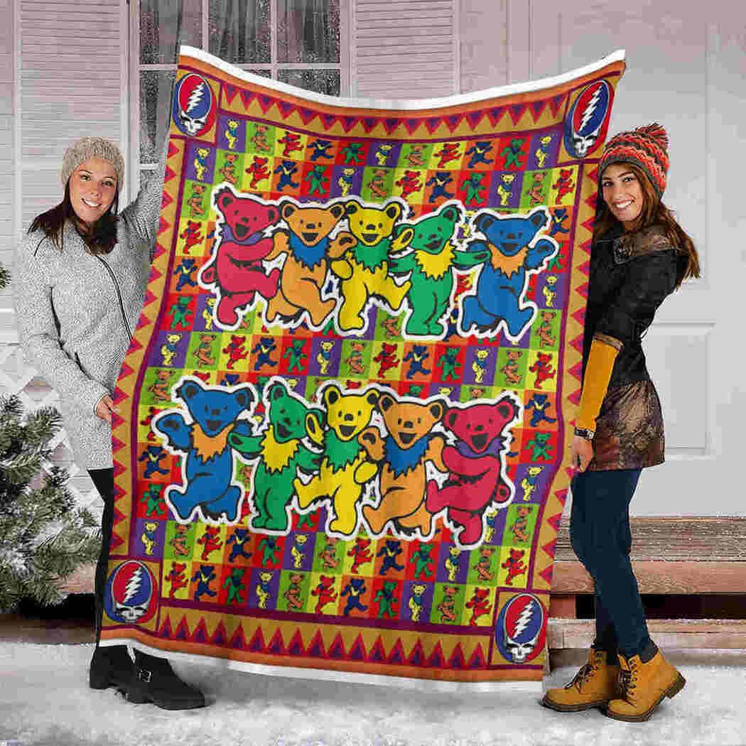 Color Bears Blanket - Beauty Animals Blanket
