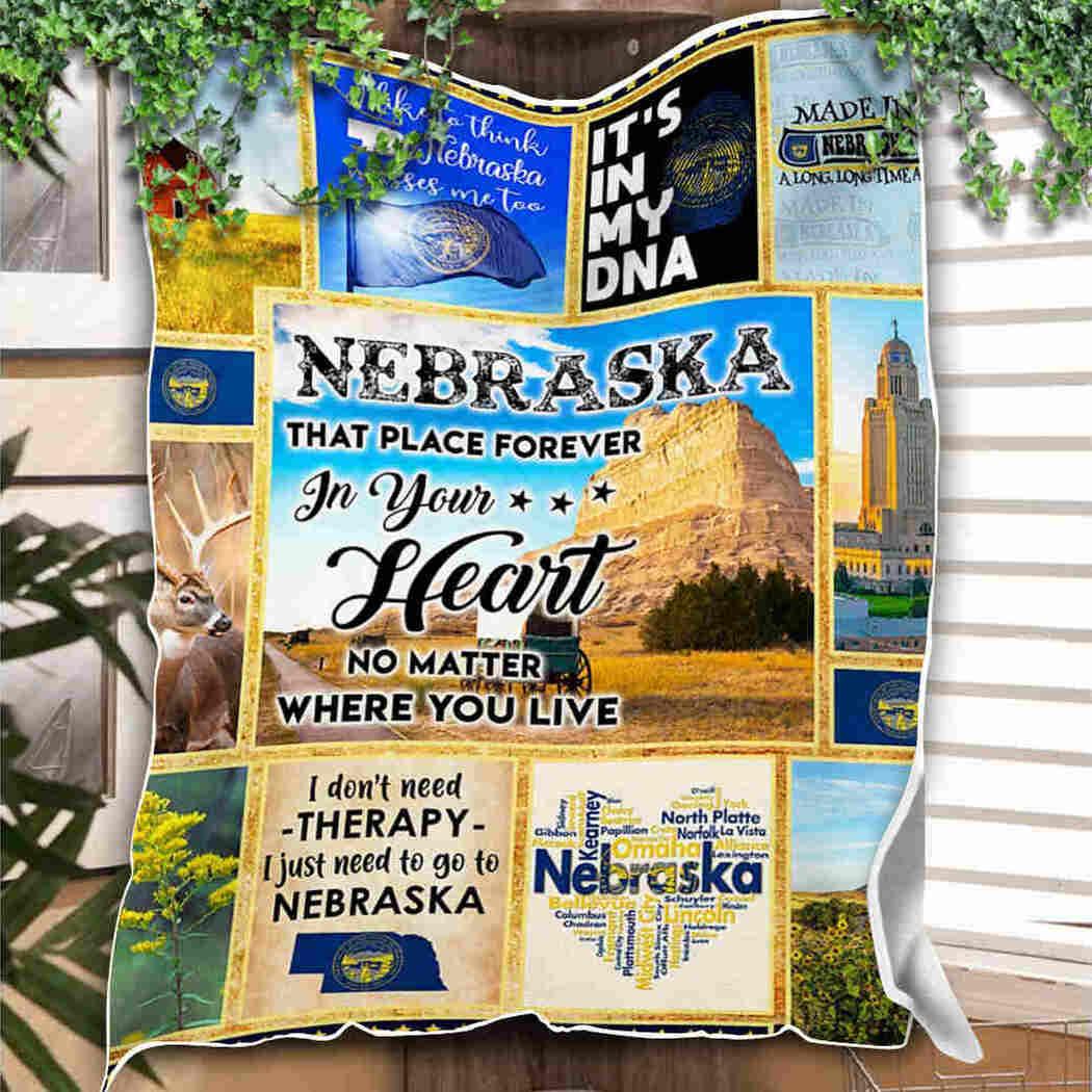 Nebraska Blanket - It'S In My Dna Blanket