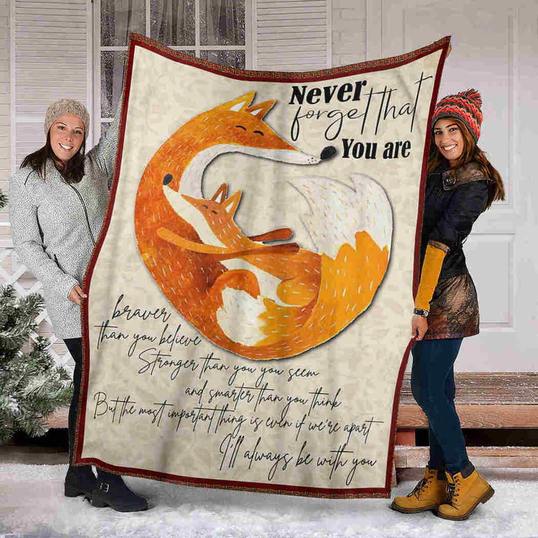 Fox Beauty Blanket - I Will Always Be With You Blanket