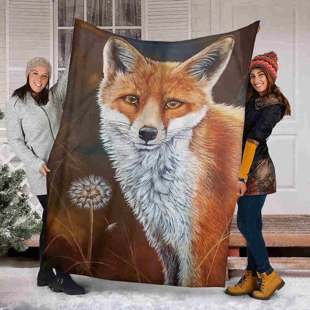 Fox Natural Blanket - Forest Animals Blanket