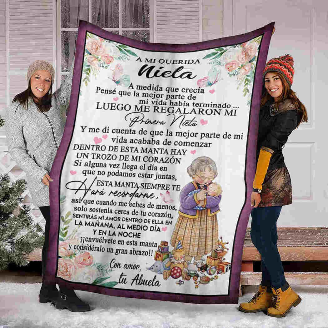 A Mi Querida Nieta Blanket - Spain Letter - To My Dear Granddaughter Blanket