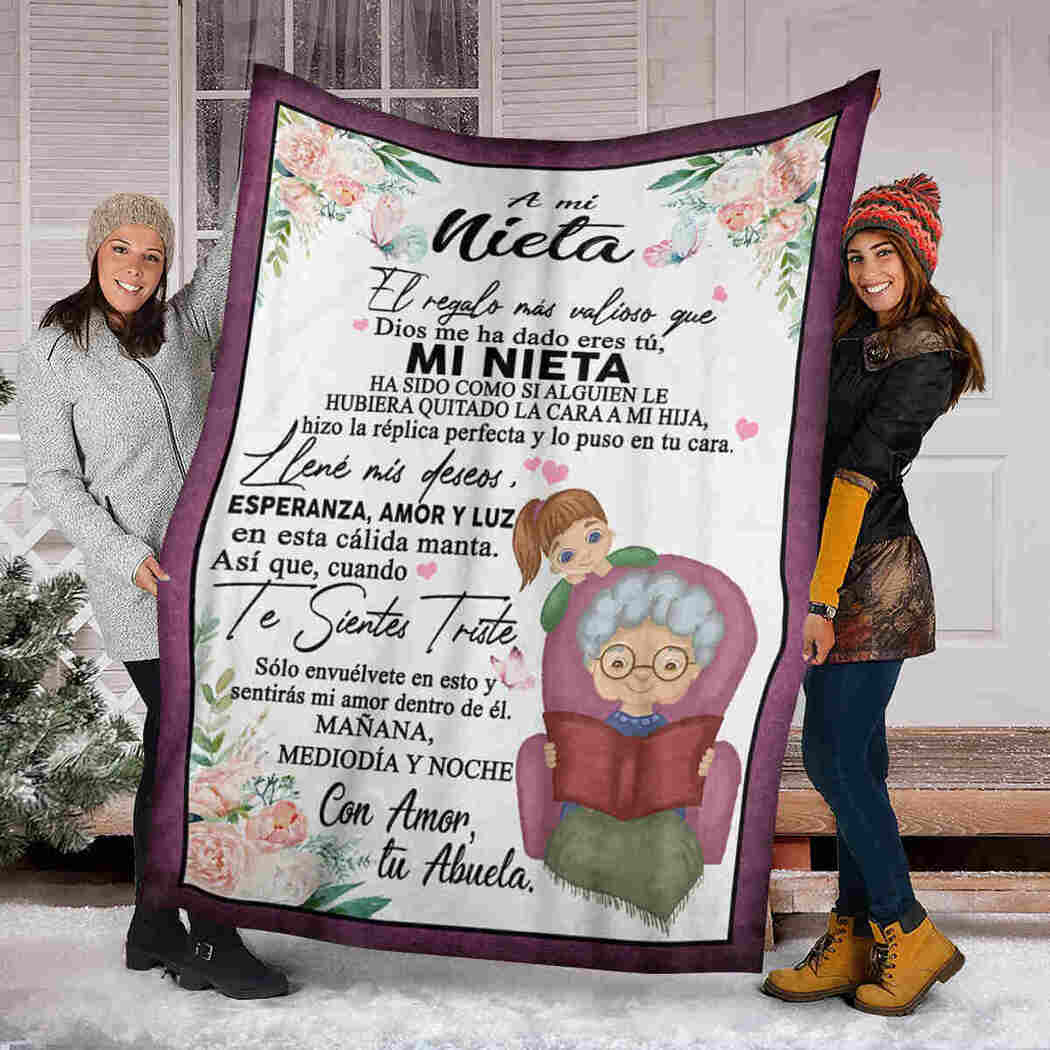 A Mi Nieta Blanket - To My Granddaughter Blanket