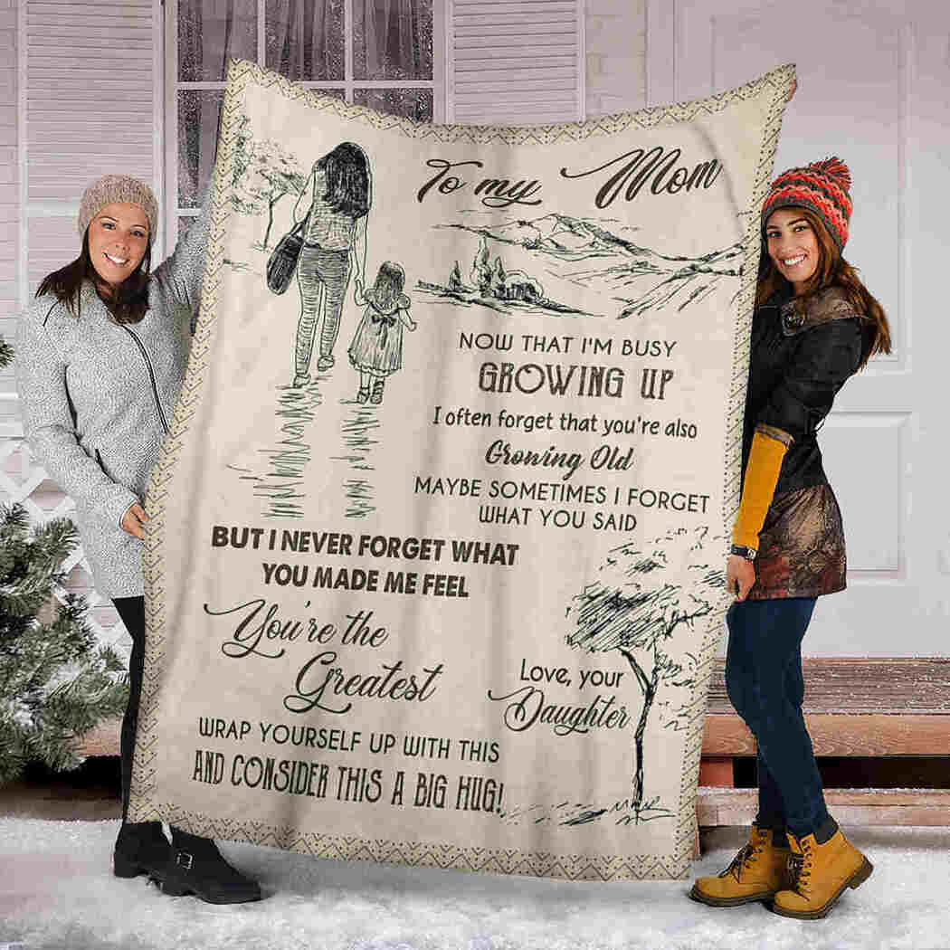 To My Mom Blanket - Tree Natural - You Are The Greatest Blanket