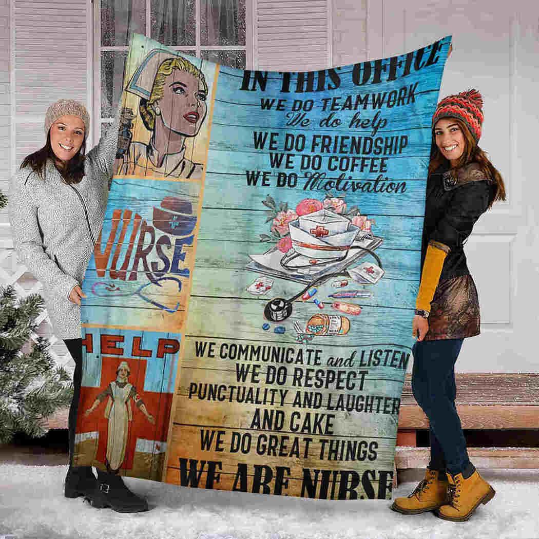 Nurse Blanket - In This Office - We Do Coffee Blanket