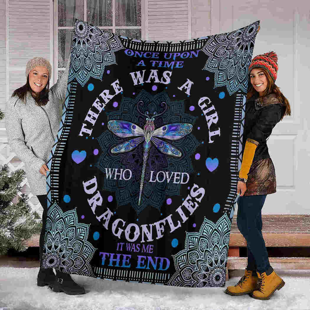 Dragonfly Mandala Blanket - Once Upons A Time There Was A Girl Who Loved Blanket