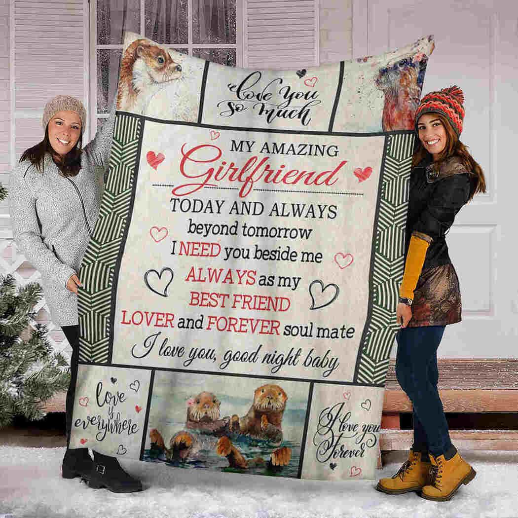 My Amazing Girlfriend - Otter - I Need You Beside Me Blanket