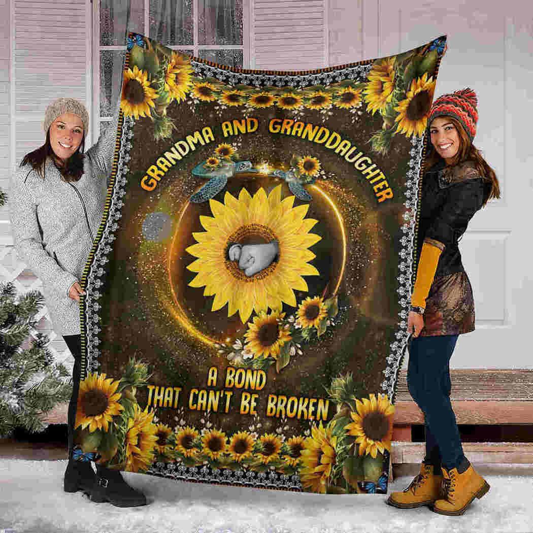 Grandma & Granddaughter Blanket - Sunflower - Can't Be Broken Blanket