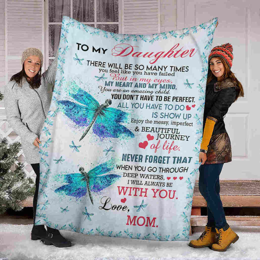 To My Daughter - Dragonfly - I Will Always Be With You Blanket